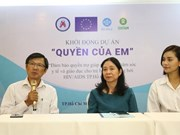 HCM City: Project launched to support children with HIV