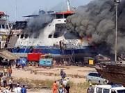 Indonesia: one killed, nine injured in shipyard fire
