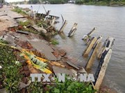 Mekong Delta suffers from coastal erosion, landslides