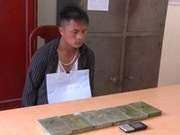 Two men smuggling six heroin bricks arrested in Dien Bien