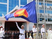 Laos raises ASEAN flag to mark bloc's founding anniversary