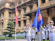 ASEAN flag hoisting ceremony celebrates grouping's 52nd anniversary
