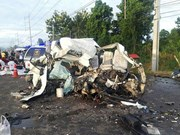 Traffic accident kills 11, injuries four in Thailand
