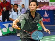 Tien Minh defeats world number 1 badminton player