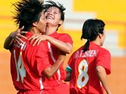VN's women expect easy game at Asian football cup