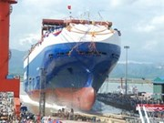 First car-carrying vessel launched