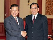 Party chief receives Lao Deputy PM