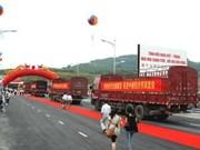 Border bridge opens in Lao Cai