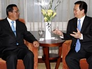 Gov't leader talks ties with Cambodia, Sri Lanka