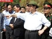 PM inspects Lai Chau hydropower plant construction site