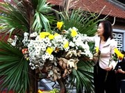 Japanese floral arrangement introduced in Hanoi