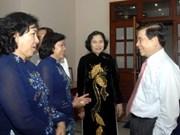 President Triet visits Tay Ninh province