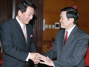 Politburo member receives Japanese ambassador