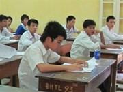 Students sit university entrance exam