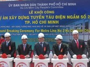 HCM City breaks ground for Metro project