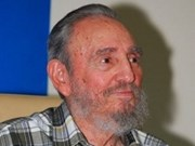 Vietnam top legislator meets with Fidel Castro