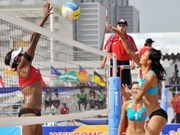 Women's beach volleyball tourney opens