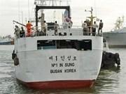 Survivors from sunken RoK trawler taken to NZ