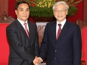 Party leader welcomes Lao Prime Minister