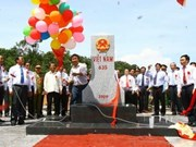 Major Laos border marker erected