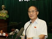 Nguyen Sinh Hung elected NA Chairman