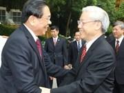 Top Vietnamese, Lao leaders hold talks