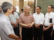 Top Vietnam leaders listen to voter concerns