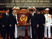 Solemn funeral held for Vo Chi Cong