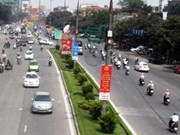 Lane restrictions in Hanoi