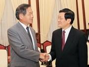 President receives Osaka Chamber President