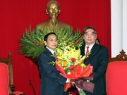Lao officials welcomed in Hanoi