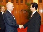 Prime Minister receives UK Foreign Secretary