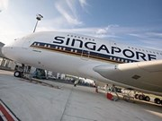 Singapore Airlines' SilkAir aircraft lands in capital