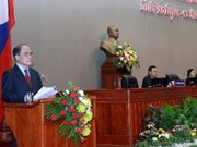NA Chairman delivers speech to Lao NA