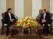 HCM City leader receives Lao guests