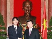 President receives Japan's Prince