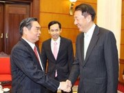 Party leader welcomes Singaporean guest