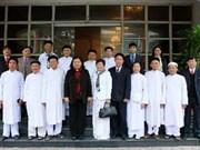 NA leader greets Cao Dai dignitaries