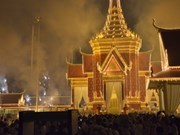 Cambodia cremates revered King Father's body