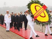 Party, State leaders pay tribute to Uncle Ho