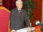 Party leader visits Phu Tho, Vinh Phuc provinces