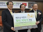 RoK presents bikes to needy Vietnamese children