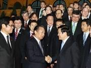 President meets Japanese parliamentarian