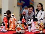 Japanese traditional dolls displayed in Thai Nguyen