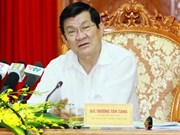 President Sang works with Hanoi Party Committee