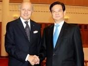 Leaders meet top French diplomat