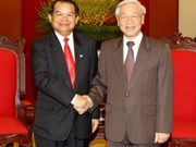 Party General Secretary welcomes Vientiane Governor