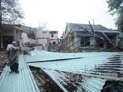 Storm-ravaged central city begins rebuilding