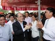 Chief legislator sings praises of developing commune