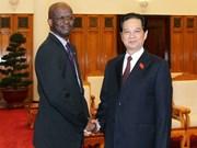 Prime Minister welcomes Saint Kitts & Nevis FM